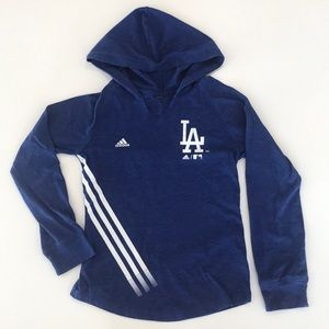LA Dodgers Adidas hoodie blue sports Los Angeles